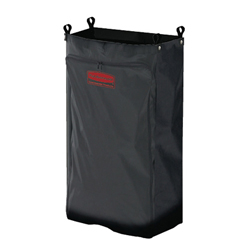 RCP6187 BLA - Heavy-Duty Fabric Cleaning Cart Bag