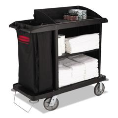 RCP6190BLA - Multi-Shelf Cleaning Cart
