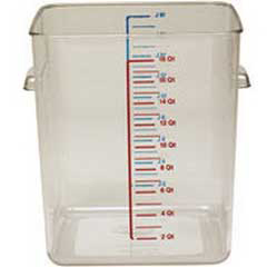RCP6322CLE - Square Space-Saving Container