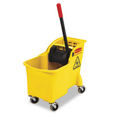RCP738000YEL - Rubbermaid® Commercial Tandem™ 31-Quart Bucket/Wringer Combo