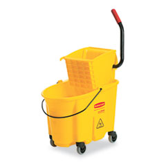 RCP748018YW - Rubbermaid Commercial® WaveBrake® Bucket/Wringer Combinations