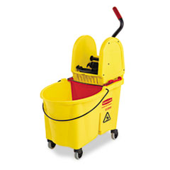 RCP757688YW - Rubbermaid® Commercial WaveBrake® Bucket/Wringer Combos