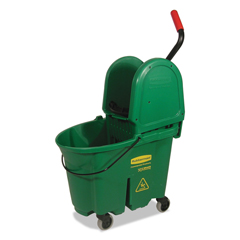 RCP757888GRE - Rubbermaid® Commercial WaveBrake® Bucket/Wringer Combos