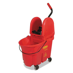 RCP757888RED - Rubbermaid® Commercial WaveBrake® Bucket/Wringer Combos