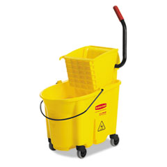 RCP758088YW - Rubbermaid® Commercial WaveBrake® Bucket & Wringer Combos