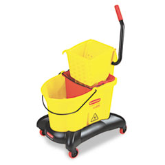 RCP768000YW - Rubbermaid® Commercial WaveBrake® Dual-Water Combo with Sideward Pressure Wringer