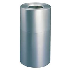 RCP9079HSI - Atrium™ Aluminum 35-Gallon Radius Top Waste Container