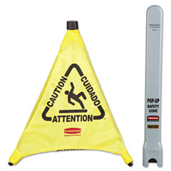RCP9S00YEL - Multilingual Pop-Up Safety Cone