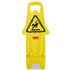 RCP9S0900YEL - Rubbermaid® Commercial Stable Multi-Lingual Safety Sign