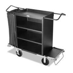 RCP9T63BLA - Rubbermaid® Commercial Deluxe High-Capacity Housekeeping Cart