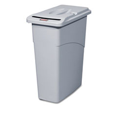 RCP9W15LGY - Rubbermaid Commercial® Slim Jim® Confidential Document Waste Receptacle with Lid