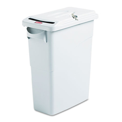 RCP9W25GRA - Slim Jim® Confidential Document Waste Receptacle with Lid