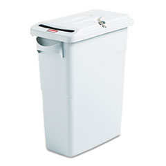 RCP9W25LGY - Rubbermaid Commercial® Slim Jim® Confidential Document Waste Receptacle with Lid