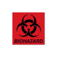 RCPBP1 - Rubbermaid® Commercial Biohazard Decal