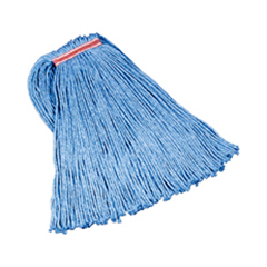 RCPF518-12BLU - Non-Launderable Cotton/Synthetic Cut-End Wet Mop Heads