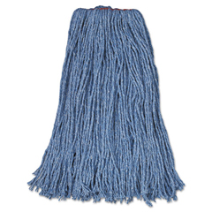RCPF51912BLU - Rubbermaid® Commercial Non-Launderable Cotton/Synthetic Cut-End Wet Mop Heads