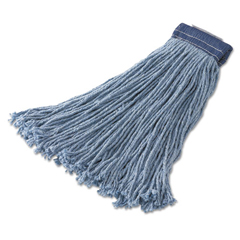 RCPF557BLU - Rubbermaid® Commercial Non-Launderable Cotton/Synthetic Cut-End Wet Mop Heads