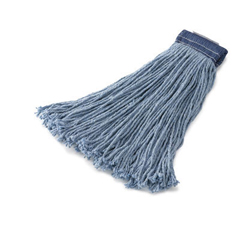 RCPF558BLU - Non-Launderable Cotton/Synthetic Cut-End Wet Mop Heads