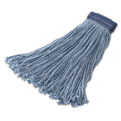 RCPF559BLU - Rubbermaid® Commercial Non-Launderable Cotton/Synthetic Cut-End Wet Mop Heads