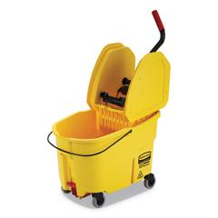 RCPFG757688YEL - Rubbermaid® Commercial WaveBrake® 2.0 Bucket/Wringer Combos