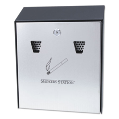 RCPR1012EBK - Smokers Station® Wall Mounted Smoking Receptacle