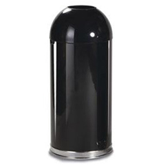 RCPR1536EPLBLK - Fire-Resistant Steel Dome Waste Receptacle