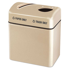 RCPR2416TPPLALM - Rubbermaid® Commercial Two-Section Fiberglass Recycling Center