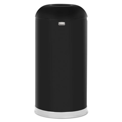 RCPR32EGLBK - Rubbermaid® Commercial Round Top Open Top Waste Receptacle