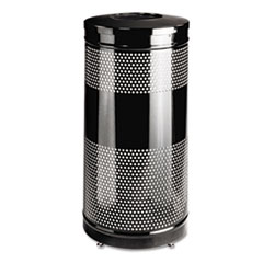 RCPS3ETBK - Rubbermaid® Commercial Classics Perforated Open Top Receptacle
