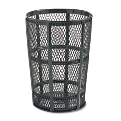 RCPSBR52EBK - Rubbermaid® Commercial Steel Street Basket Waste Receptacle