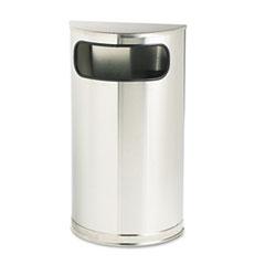 RCPSO8SSSPL - European & Metallic Series Satin Stainless 9-Gallon Half-Round Waste Receptacle