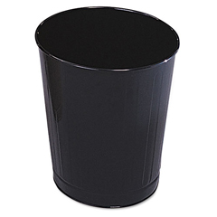 RCPWB26BK - Rubbermaid® Commercial Fire-Safe Steel Round Wastebaskets