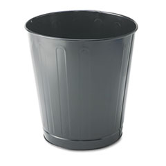 RCPWB26GY - Rubbermaid® Commercial Fire-Safe Steel Round Wastebaskets