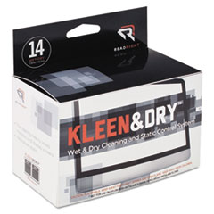 REARR1205 - Read Right® Kleen & Dry™ Wet/Dry Wipes
