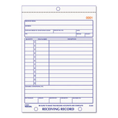 RED2L260 - Rediform® Receiving Record Book