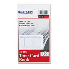 RED4K409 - Rediform® Weekly Employee Time Cards, Sunday-Saturday