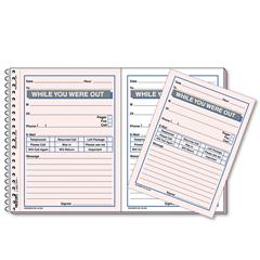 RED50226 - Rediform® Desk Saver Line™ Wirebound Message Book