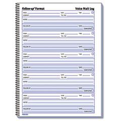 RED51114 - Rediform® Voice Mail Wirebound Log Books