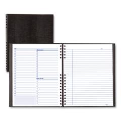 REDA30C81 - NotePro Undated Daily Planner, 11 x 8-1/2, Black
