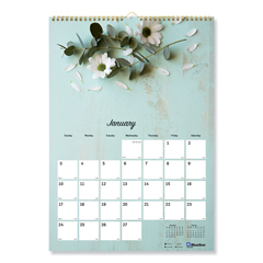 REDC173122 - Brownline® Twin Wirebound Wall Calendar, One Month per Page