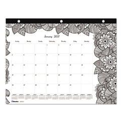 REDC2917211 - Blueline® Monthly Desk Pad Calendar with Coloring Pages