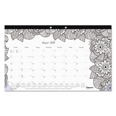 REDCA2917001 - Blueline® Monthly Desk Pad Calendar with Coloring Pages