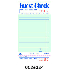 RPPGC3632-1 - Guest Check Book
