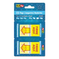 RTG72046 - Redi-Tag® Spanish Dispenser Flags