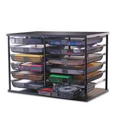 RUB1735746 - Rubbermaid® 12-Compartment Organizer with Mesh Drawers