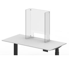 LUXDIVCU-2430C - Luxor - 24 x 30 Clear Acrylic Divider w/ Cutout w/ side 8 x 30 Panels