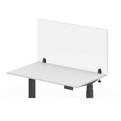 LUXDIVCL-3030C - Luxor - 30 x 30 Clear Acrylic Divider w/ 2 Side Desk Clamps