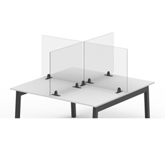LUXDIVTT-2424C - Luxor - 24 x 24 Clear Acrylic Divider w/ 2 Table Top Clamps