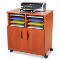 SAF1851CY - Safco® Mobile Laminate Machine Stand With Sorter Compartments