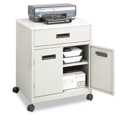 SAF1870GR - Safco® Steel Machine Stand with Pullout Drawer